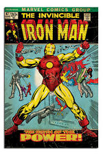 Iron Man Classic Marvel Comics Cover Large Wall Poster New - Laminated Available
