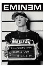 Eminem Slim Shady Mugshot Wall Poster New - Laminated Available