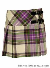 Girls 100% Wool Billie Kilt, Stewart Dress Purple Tartan