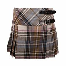 Girls Wool Billie Kilt, LA Check Tartan