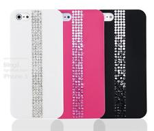 EMBEDDED ON THE CASE DIAMANTE DIAMOND BLING BLING CASE COVER FOR IPHONE 5