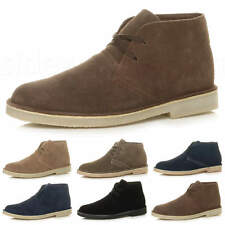 MENS LACE UP CLASSIC DESERT SUEDE LEATHER CASUAL ANKLE FLAT BOOTS SHOES SIZE