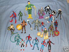LOTS TO CHOOSE FROM SPIDERMAN MARVEL ACTION FIGURES HEROES VILAINS FREE UK POST