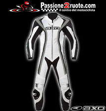 Axo Talon Evo white black bianco Nero Tuta intera pelle moto Racing Leather Suit