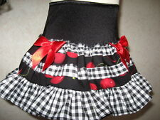 NEW Girls Mixed,Red,Black,white cherries,check Punk,Goth,Rock,Gift,Party Skirt