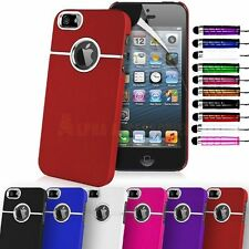 Stylish Hard Back Case Cover With Chrome Trim For Apple iPhone 5S, 5