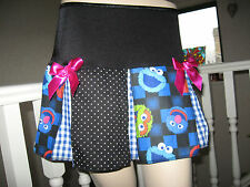 NEW  Black Blue Pink Cookie Monster Spot Check Retro Rock Party Skirt-All sizes