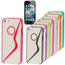 Stylish S-Line Flexible TPU PC Crystal Case Cover For New Apple iPhone 5S, 5, 5G