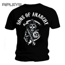 Official T Shirt SONS OF ANARCHY Black CLASSIC LOGO All Sizes