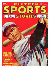 Fifteen Sports Stories Baseball 1948 Print - Framed And Memo Board Available