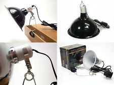 Clamp Lamp Reflector Dome Ceramic Holder Black White with Hook 60W 150W 200W
