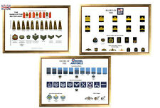 Large A3 Ranks of the British Military  Army / Navy / RAF 3 Posters available