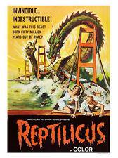 Reptilicus Monster Movie Poster Print - Framed And Memo Board Available