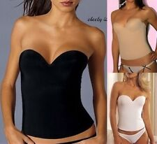 eb20f50506 32 to 40 LOW BACK Bridal Bustier CORSET Shaper STRAPLESS PUSH UP Longline  BRA
