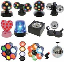LLOYTRON DJ DISCO TWIN BALL LIGHTING XMAS PARTY MIRROR LED ROTATING LIGHT LAMP