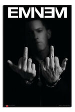 Eminem Middle Fingers Large 24 x 36 Inch Wall Poster New - Laminated Available