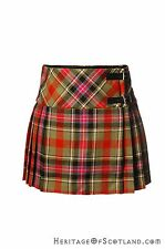 Girls 100% Wool Billie Kilt, Bruce Of Kinnaird Tartan