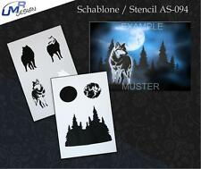 Step by Step Airbrush Schablone AS-094 ~ Tattoo Stencil ~ UMR-Design