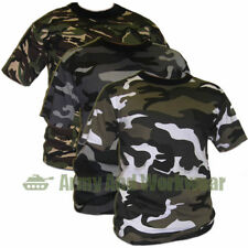 Camouflage Military Ops Army Camo Print Combat T-SHIRT TOP DPM Mens Short Sleeve