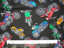 More Chopper Motorcycles cotton quilting fabric *Choose design & size
