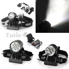 1x/3x/4x Lampada Frontale LED T6 Cree XM-L Luce Bianco con Caricabatteria