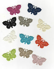 Patch écusson thermocollant PAPILLON style CROCHET 11 Coloris au choix
