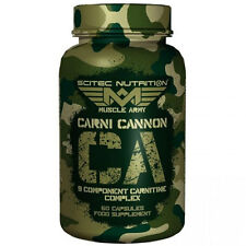 SCITEC NUTRITION MUSCLE ARMY Carni Cannon 9 COMPOSANT Carnitine complexe 60