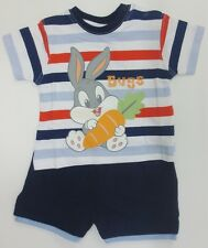 Baby Boys Looney Tunes Shorts & T Shirt Set Red Stripe