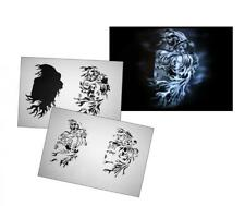 Step by Step Airbrush Schablone AS-064 ~ Tattoo Stencil ~ UMR-Design