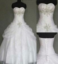 New White/Ivory Wedding dress Bridal Gown Evening Stock size: 6-8-10-12-14-16