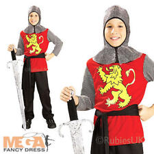 Medieval Lord Boys Fancy Dress Book Week Knight Kids Childs Costume Outfit New