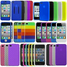 For iPhone 4 Silicone Case Gel Bumper Soft Skin Back Cover For iPhone 4s