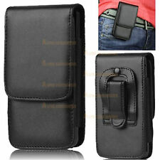 Leather Flip Belt Clip Hip Loop Pouch Case Cover Holster Mobile Cell Phone's HTC