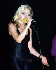DEBORAH HARRY TIGHT BLACK OUTFIT ON STAGE 1970'S PHOTO OR POSTER