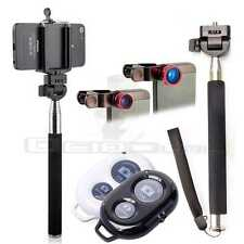 Soporte Extensible Palo Selfie Monopod Disparador Bluetooth Ojo Pez para Movil