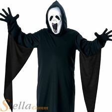 Boys Howling Ghost Halloween Scream Fancy Dress Costume + Mask Child Outfit
