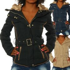G650 Damen Winter Jacke Steppjacke Parka Jacket Daunen Look Winterjacke