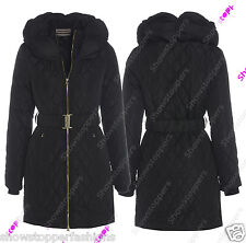 NEW PADDED Womens WINTER COAT Ladies Jacket Size 8 10 12 14 16 Parka Snorkel