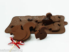 4+1 SQUIRREL Novelty Chocolate Silicone Bakeware Cake Lolly Mould Candy Mold