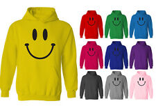 Mens Smiley Happy Face Pullover Hoodie NEW XS-XXL