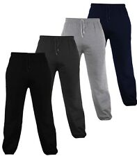 MENS FLEECE JOGGERS JOGGING TRACKSUIT BOTTOMS (ELASTICATED) CUFFED TROUSERS