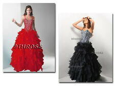 DAZZLE JUDGES! BEADED LACED-UP EVENING/FORMAL/PROM/BRIDESMAID/BALL GOWN