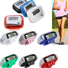 Digital LCD Multi Pedometer Walking Step Distance Calorie Counter Run Fitness