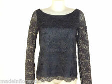 DENNY ROSE CAMICIA BLUSA PIZZO Tg S M L INVERNO LACE SHIRT 51DR41003