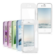 kwmobile CRYSTAL CASE FÜR APPLE IPHONE 4 4S SILIKON FULL BODY SCHUTZ HÜLLE