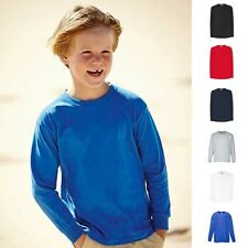 Kinder Kind Junge Valueweight Shirt Langarm Longsleeve T-Shirt Fruit of the loom