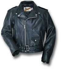 SCHOTT NYC PERFECTO 618 MOTORCYCLE LEATHER JACKET, BLACK, USA-MADE [70300]