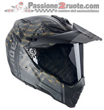 Casco enduro off road motard atv quad moto Agv Ax-8 Dual Evo Grunge Mat