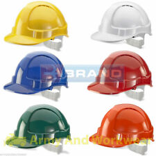 10 x B-Brand Economy Vented ABS Shell Stylish Lightweight Safety Hard Hat Helmet