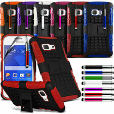 Shockproof Dual Layer Heavy Duty Case Cover & Stand For Samsung Galaxy Young 2